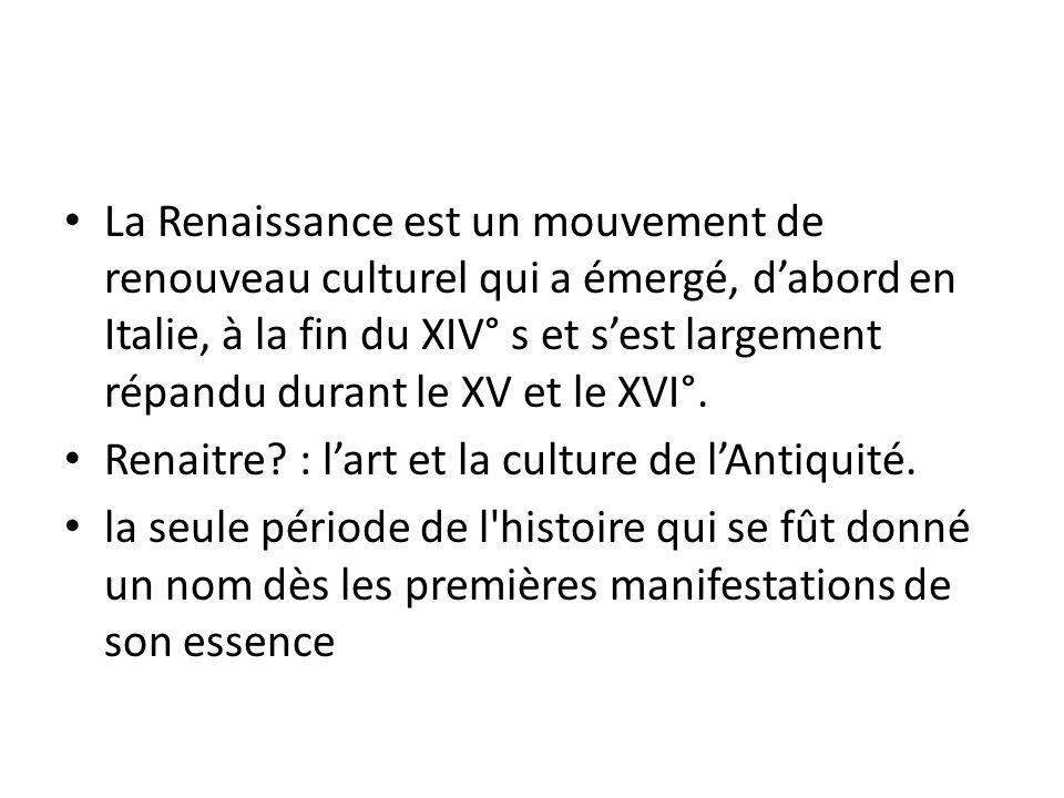 forme historique de la renaissance