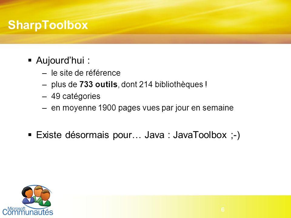 SharpToolbox Aujourd'hui :