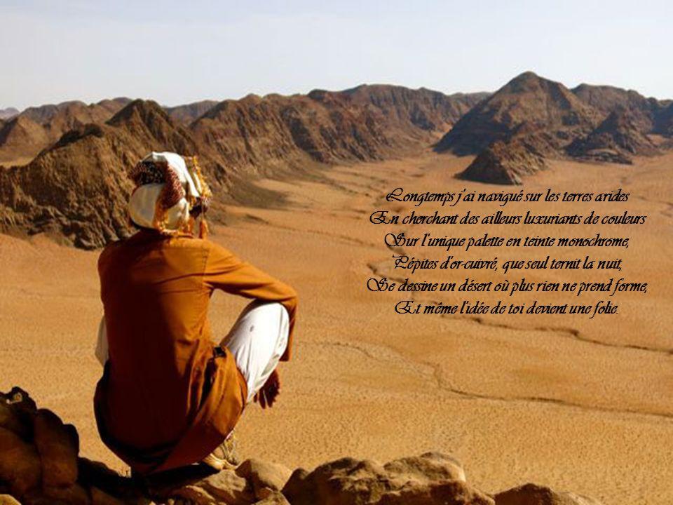 Longtemps j ai navigué sur les terres arides