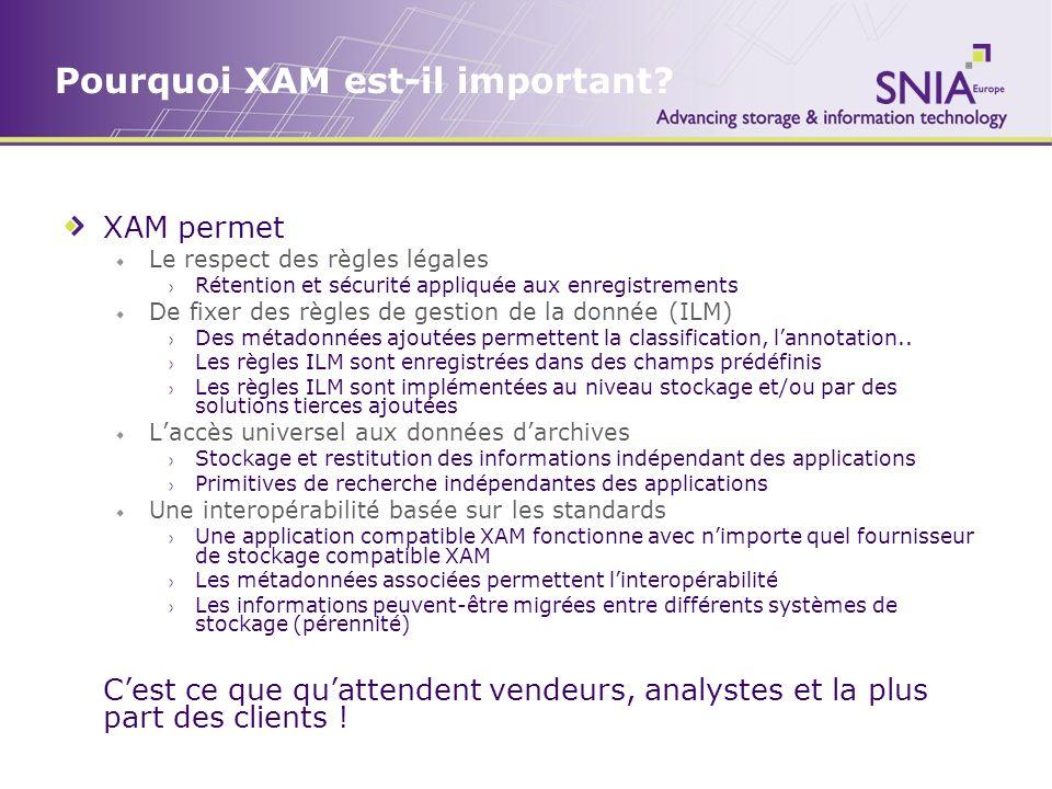 Pourquoi XAM est-il important