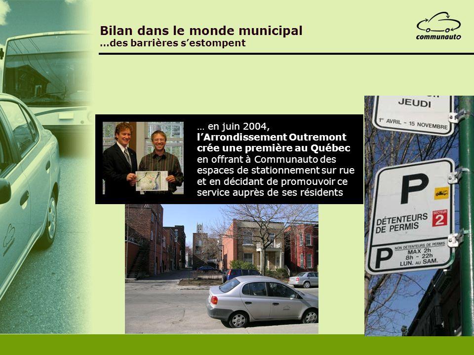 Bilan dans le monde municipal …des barrières s'estompent