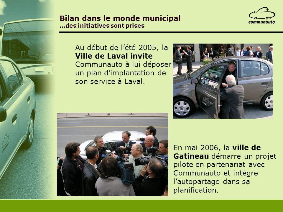 Bilan dans le monde municipal …des initiatives sont prises