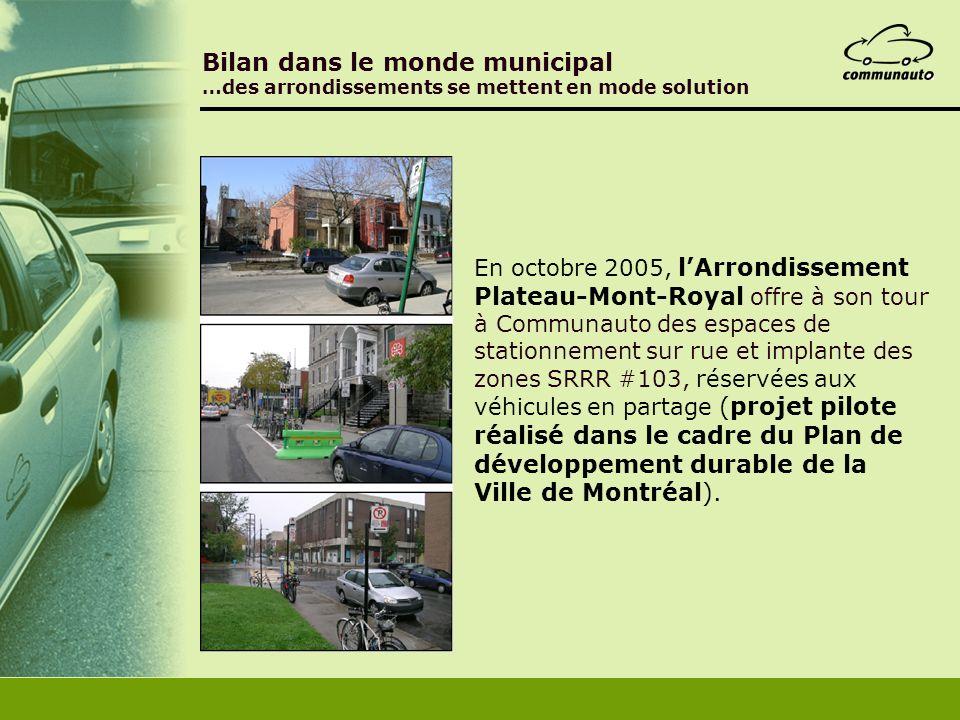 Bilan dans le monde municipal …des arrondissements se mettent en mode solution