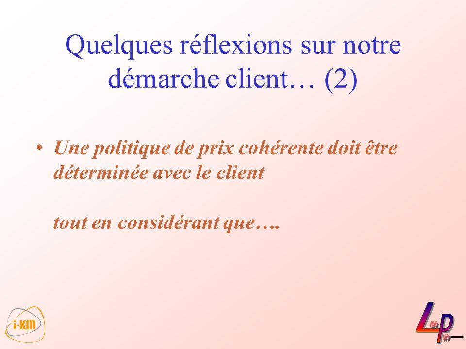Quelques réflexions sur notre démarche client… (2)