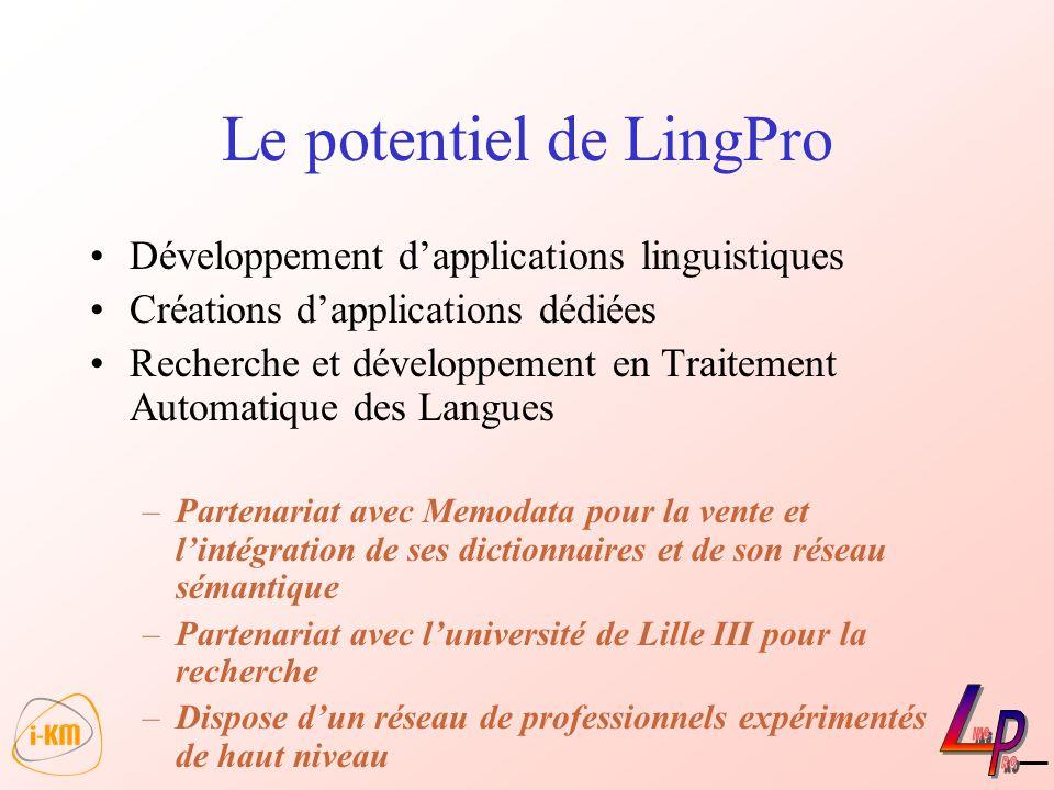 Le potentiel de LingPro
