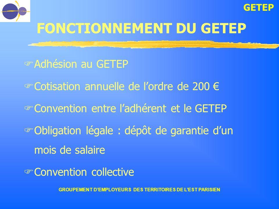 FONCTIONNEMENT DU GETEP