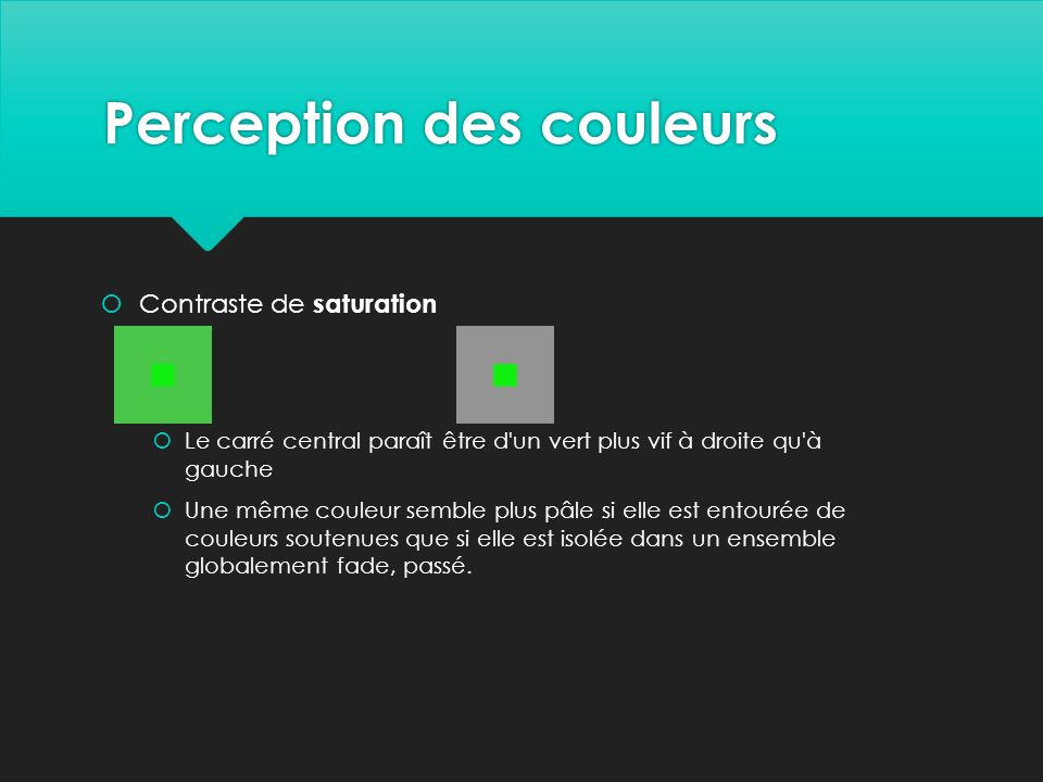 Perception des couleurs