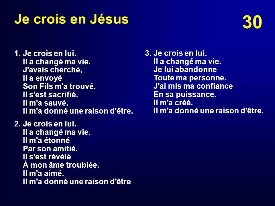 Je crois en Jésus