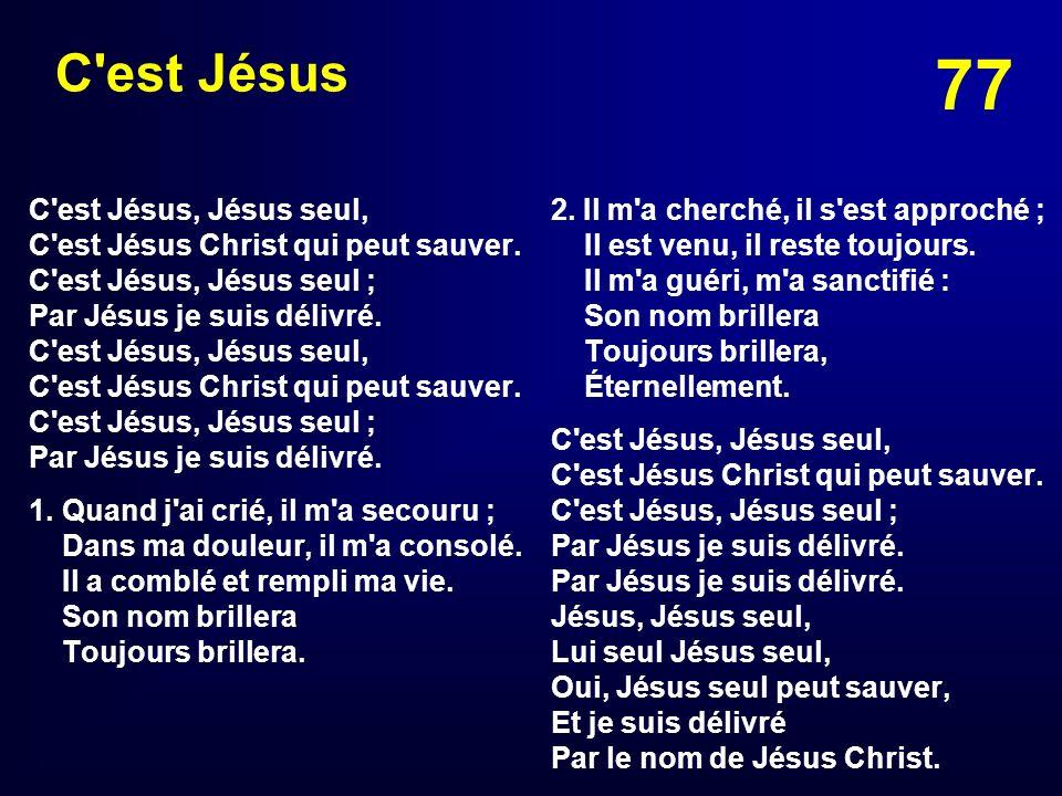C est Jésus