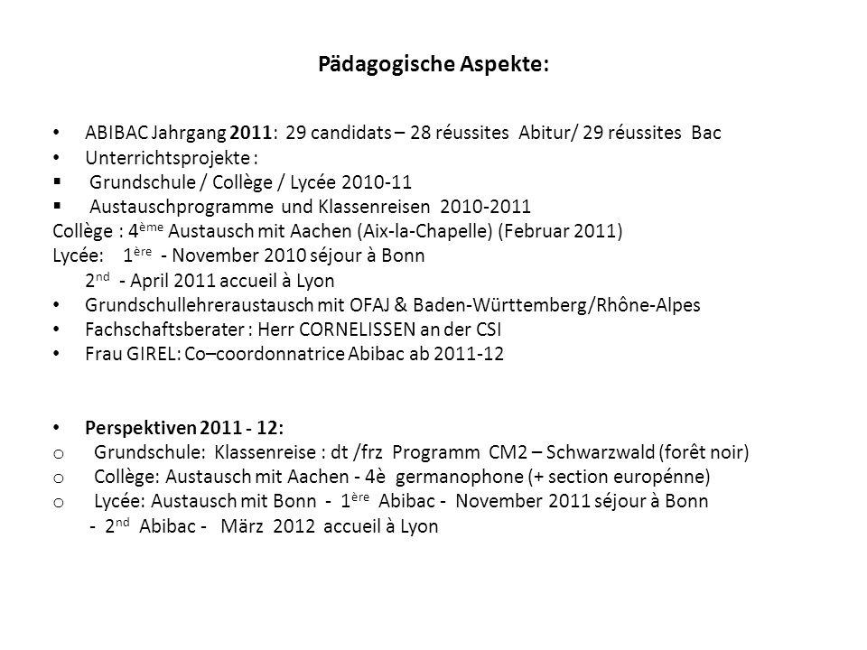 Pädagogische Aspekte: