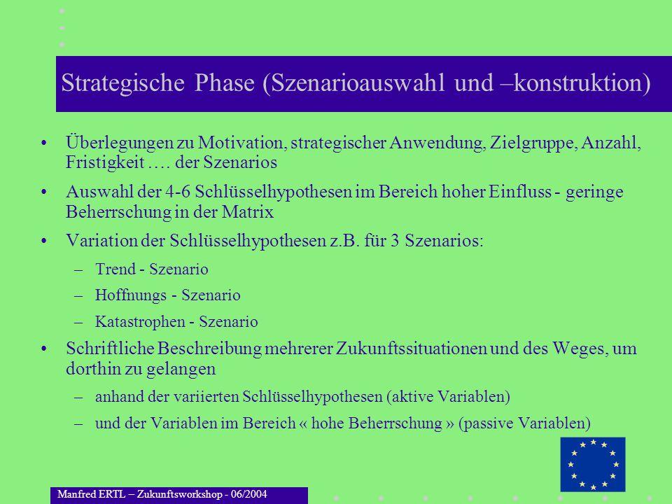 Strategische Phase (Szenarioauswahl und –konstruktion)