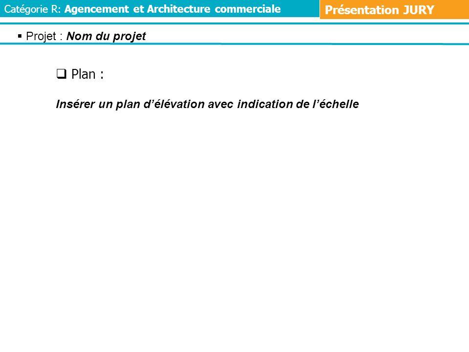 Plan : Présentation JURY Projet : Nom du projet