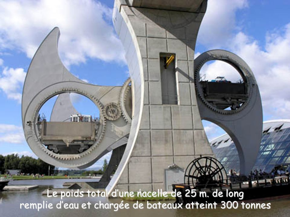 Le poids total d'une nacelle de 25 m