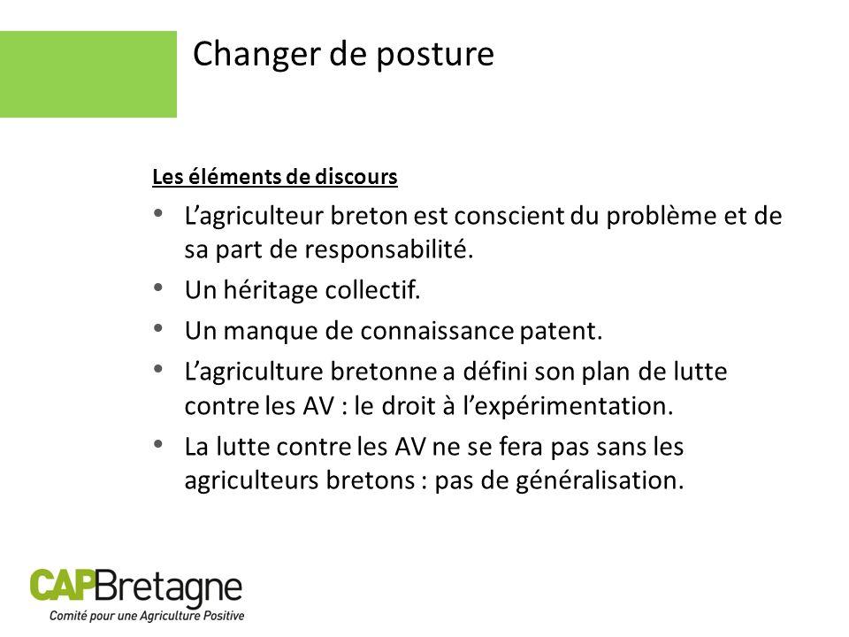 Changer de posture Les éléments de discours. L'agriculteur breton est conscient du problème et de sa part de responsabilité.