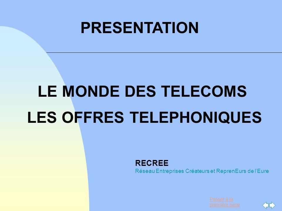 LE MONDE DES TELECOMS LES OFFRES TELEPHONIQUES