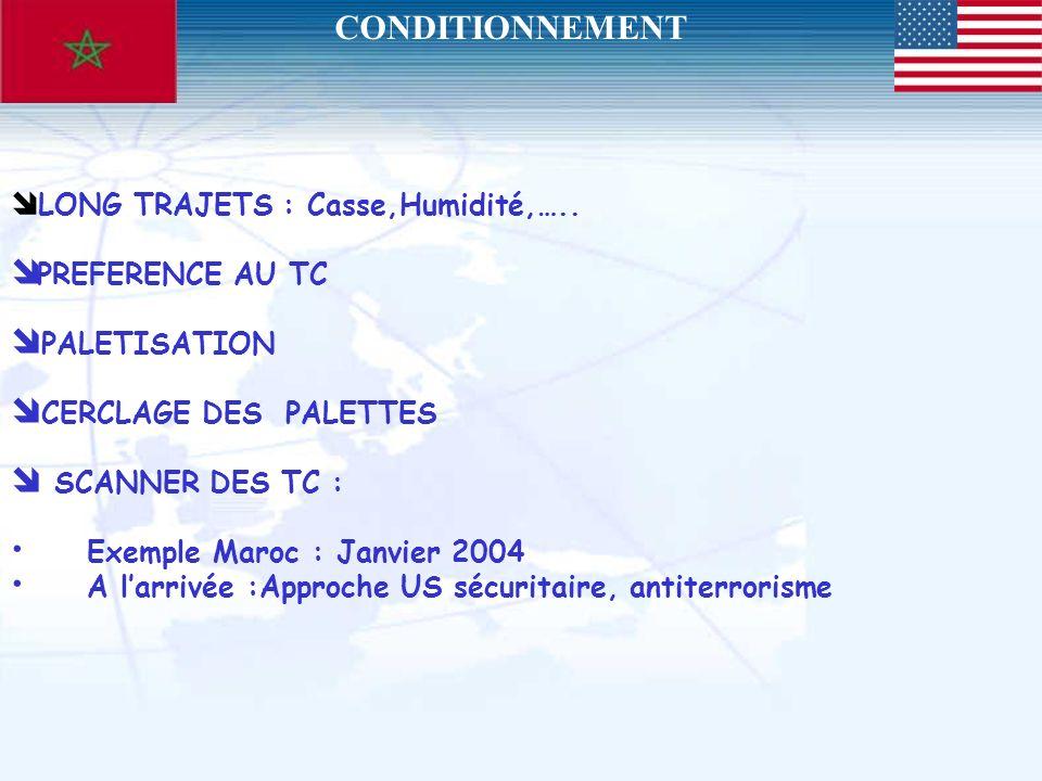 CONDITIONNEMENT PREFERENCE AU TC PALETISATION CERCLAGE DES PALETTES