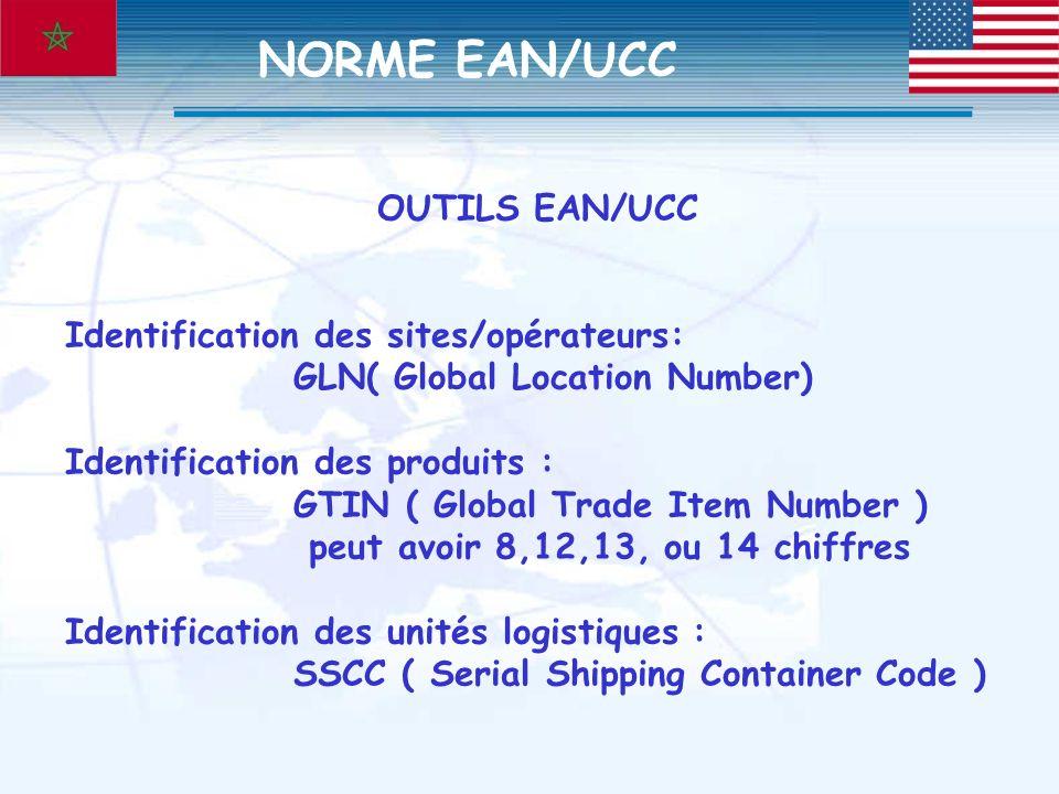 NORME EAN/UCC OUTILS EAN/UCC Identification des sites/opérateurs:
