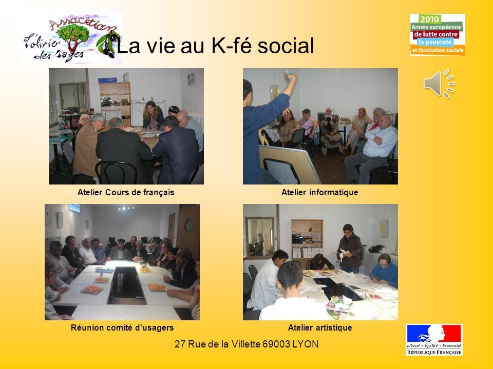Atelier Cours de français Réunion comité d'usagers