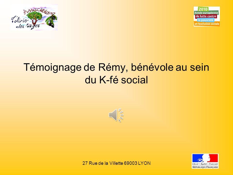 Témoignage de Rémy, bénévole au sein du K-fé social