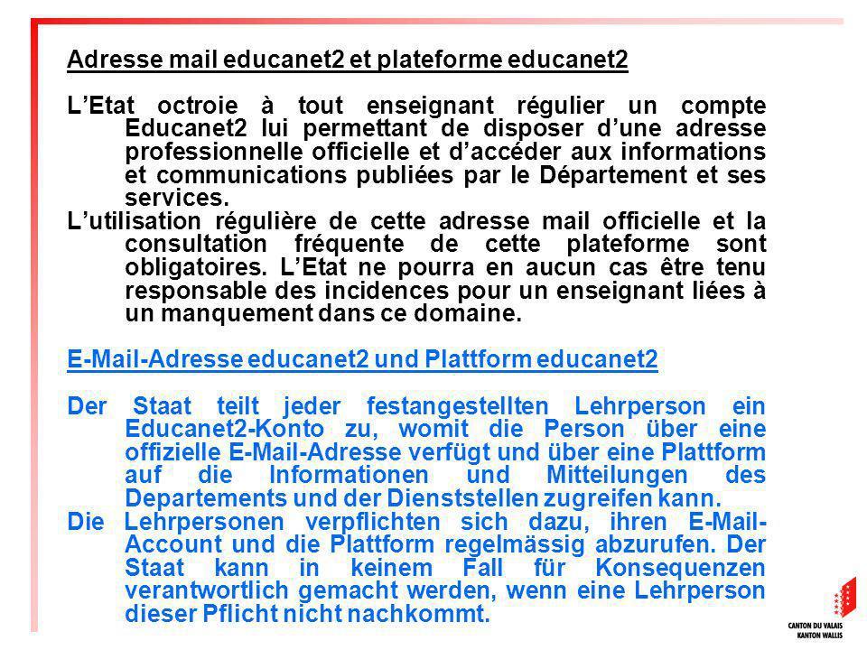 Adresse mail educanet2 et plateforme educanet2