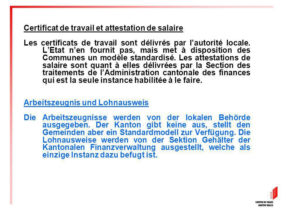 Certificat de travail et attestation de salaire