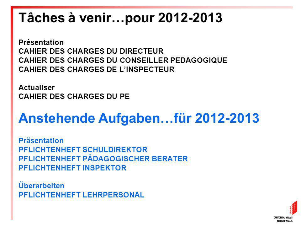 Anstehende Aufgaben…für 2012-2013