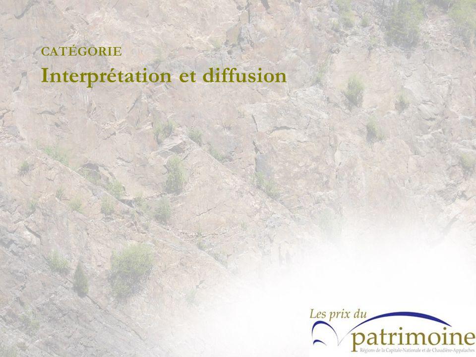 CATÉGORIE Interprétation et diffusion