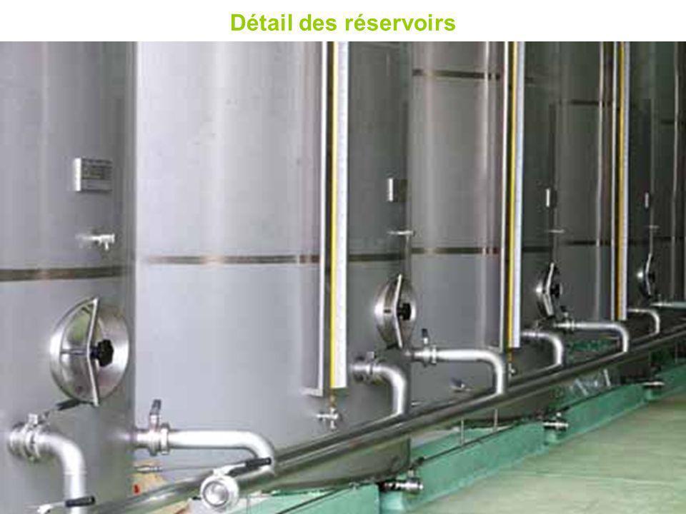 Détail des réservoirs