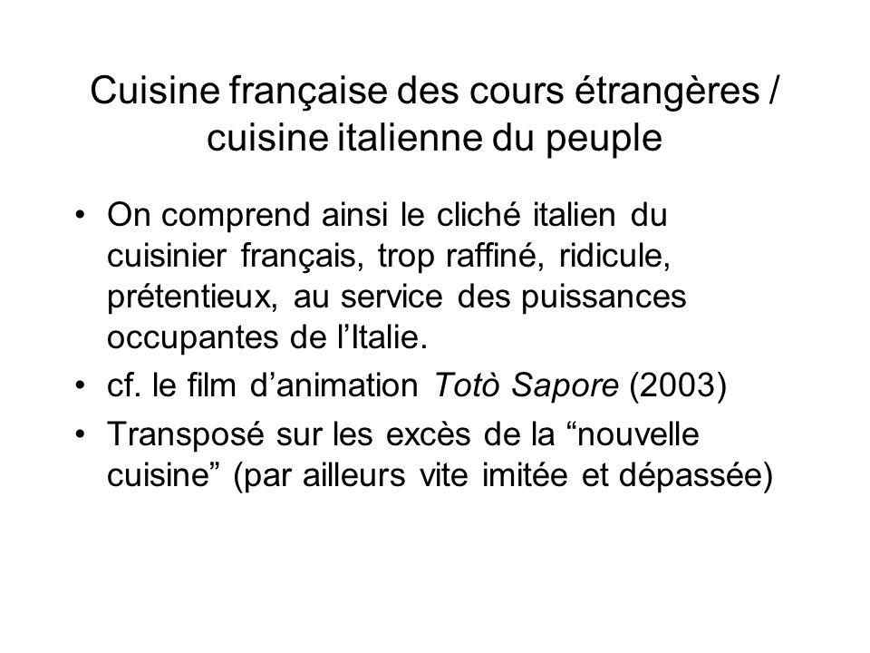 St r otypes italo fran ais dans la culture courante ppt - Cours de cuisine par internet ...