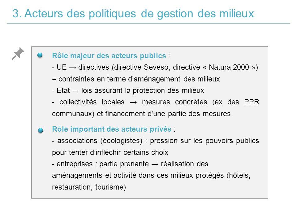 3. Acteurs des politiques de gestion des milieux