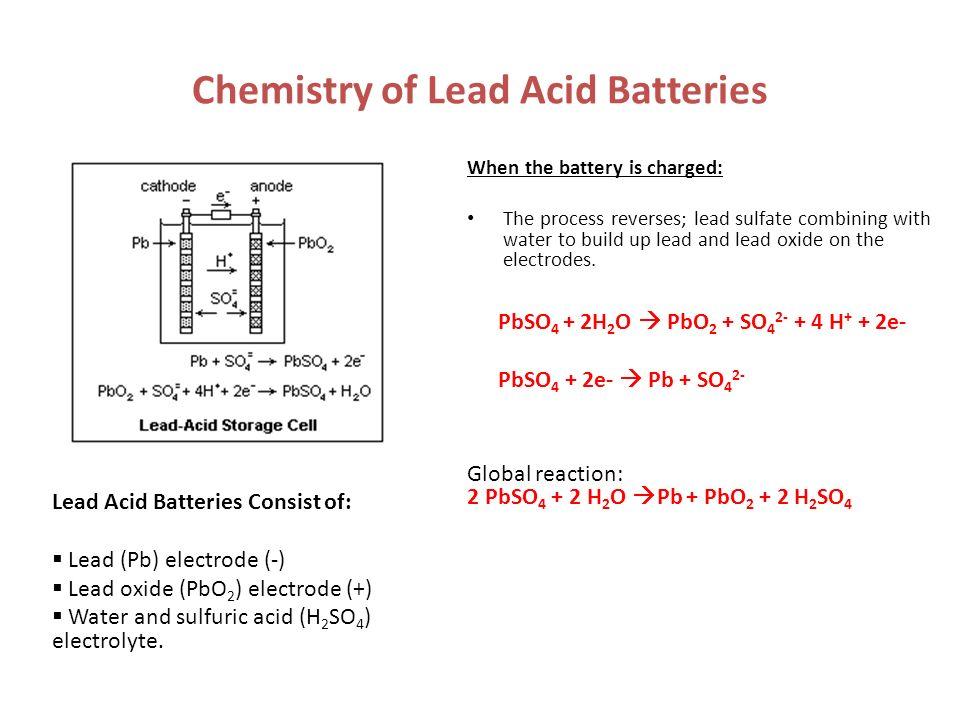 Chemistry of Lead Acid Batteries