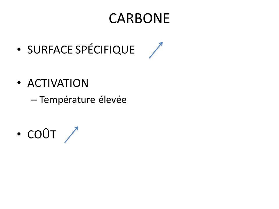 CARBONE SURFACE SPÉCIFIQUE ACTIVATION Température élevée COÛT