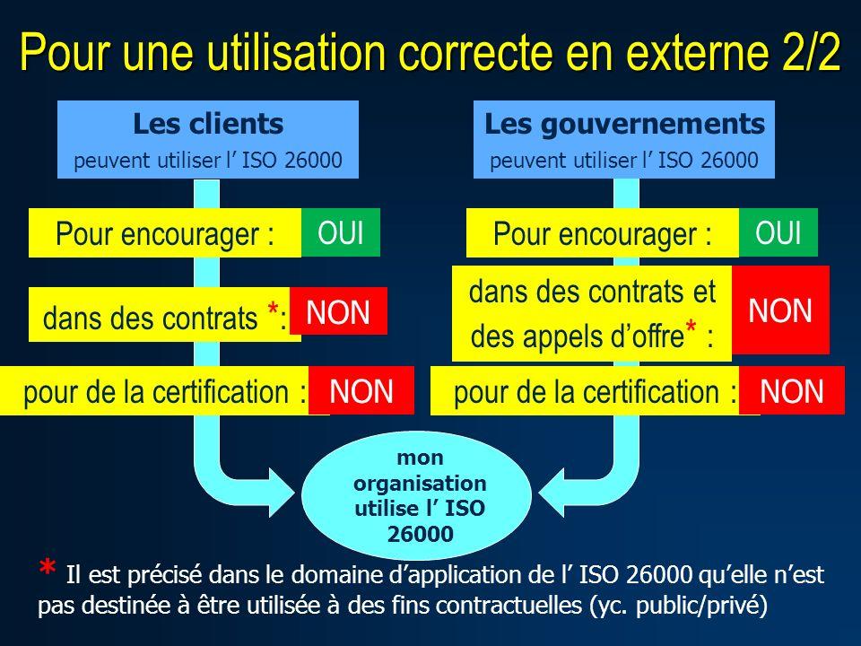 mon organisation utilise l' ISO 26000