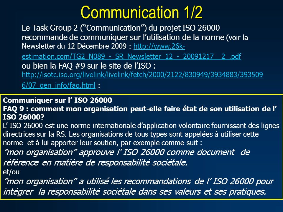 Communication 1/2