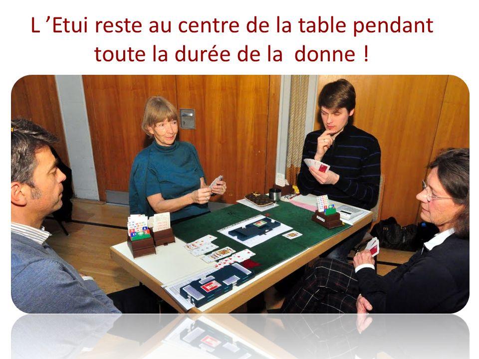 L 'Etui reste au centre de la table pendant toute la durée de la donne !