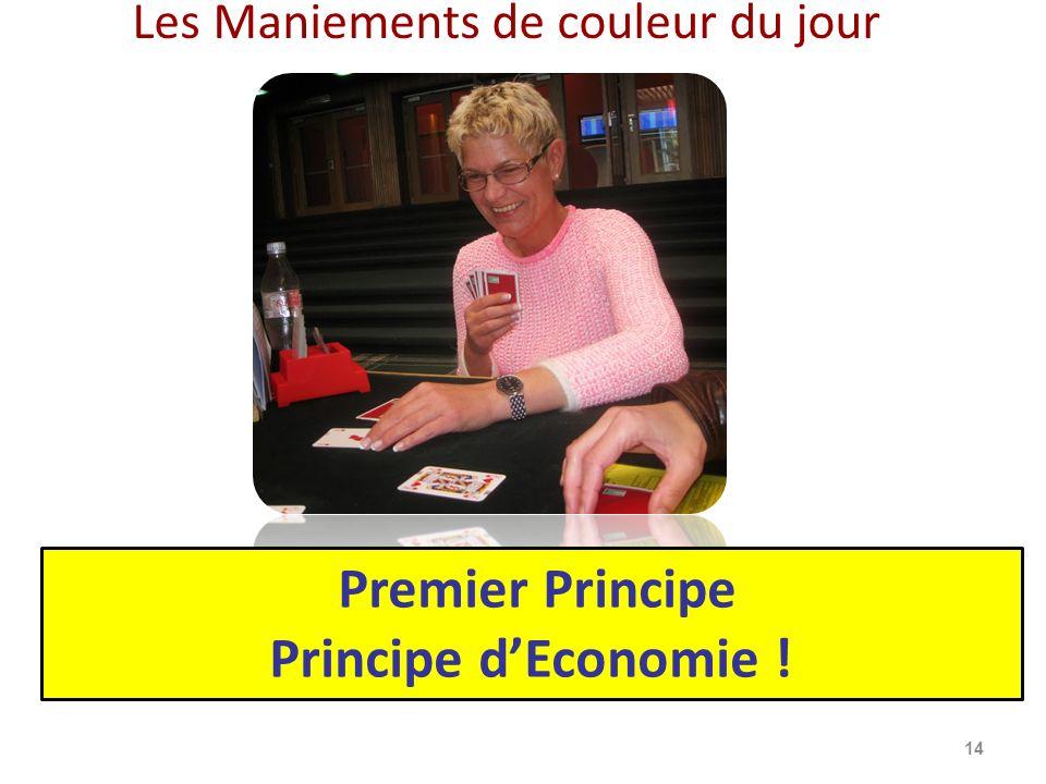 Premier Principe Principe d'Economie !