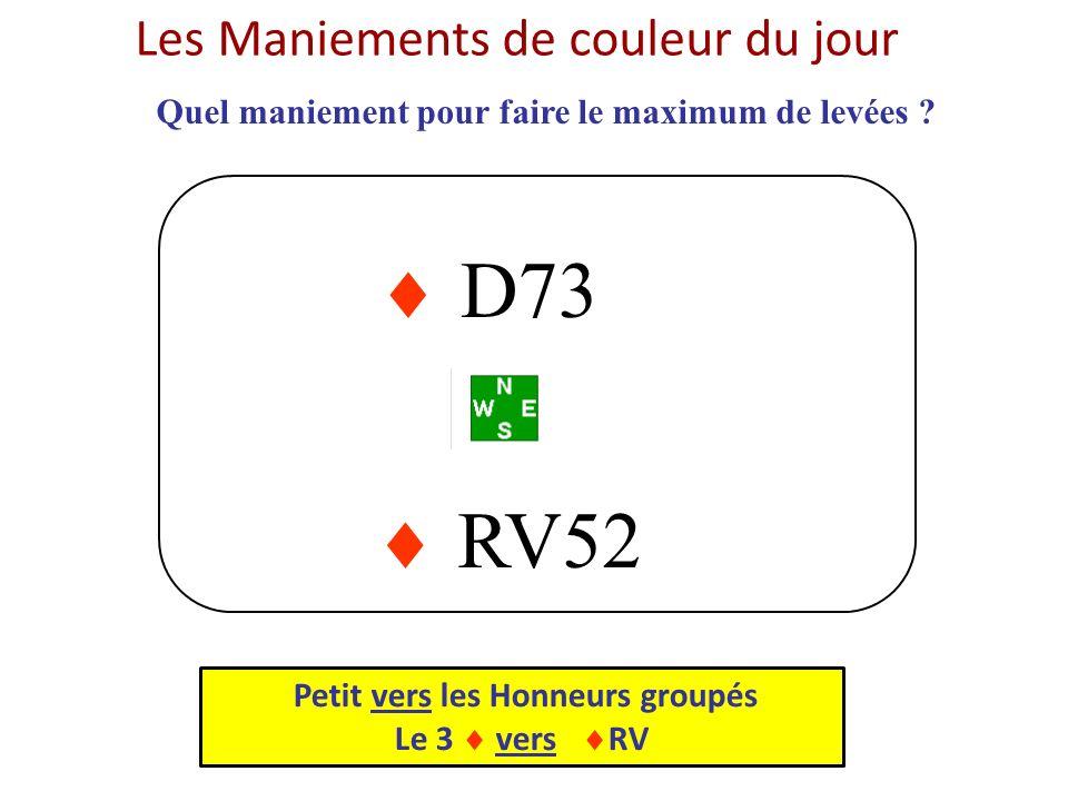  D73  RV52 Les Maniements de couleur du jour