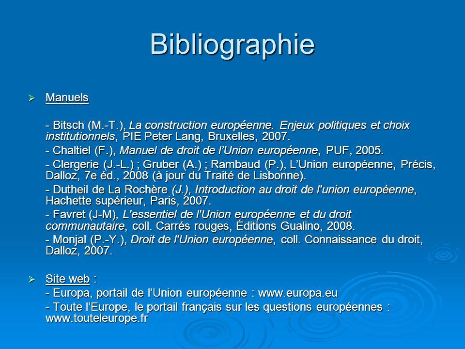 Bibliographie Manuels