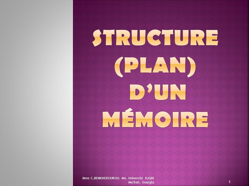 Structure (Plan) d'un mémoire