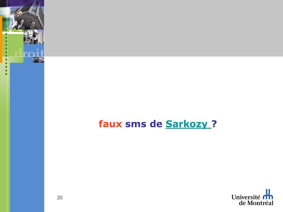 faux sms de Sarkozy