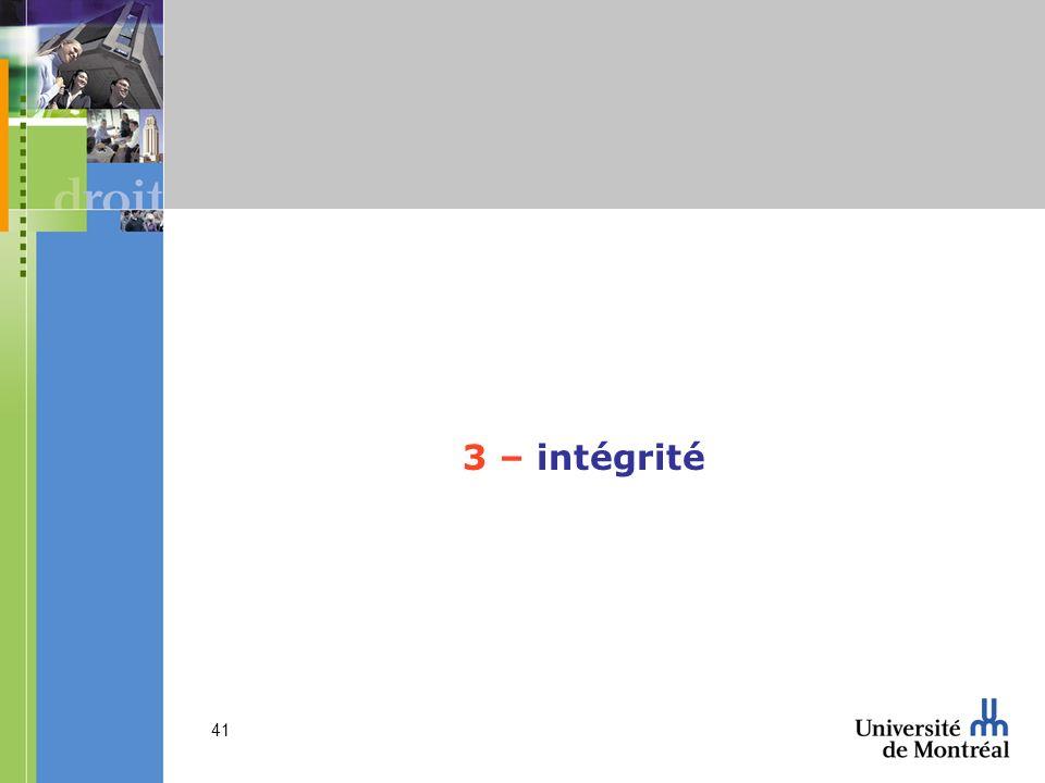 3 – intégrité