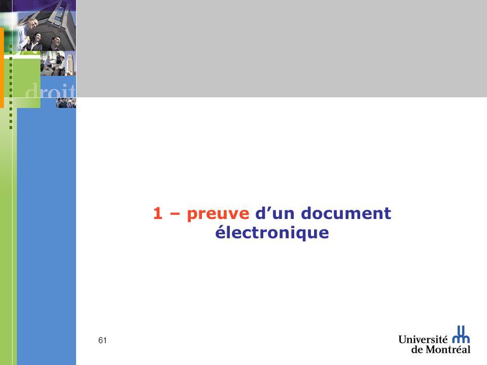 1 – preuve d'un document électronique