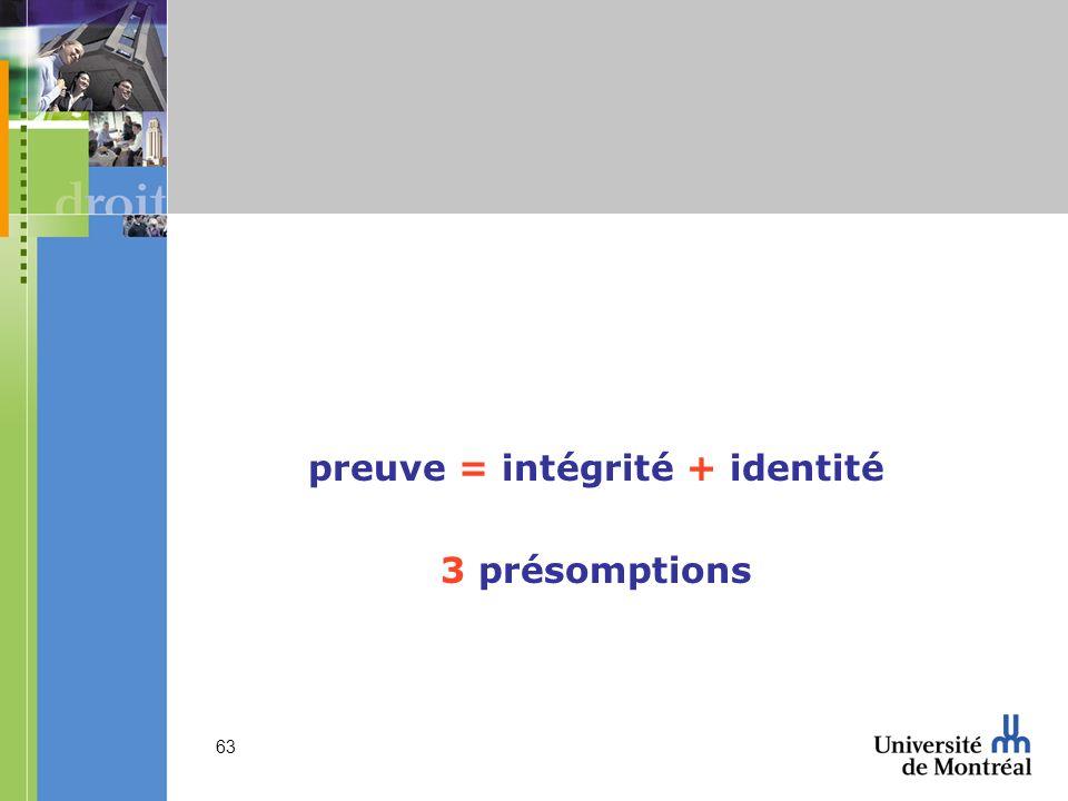 preuve = intégrité + identité