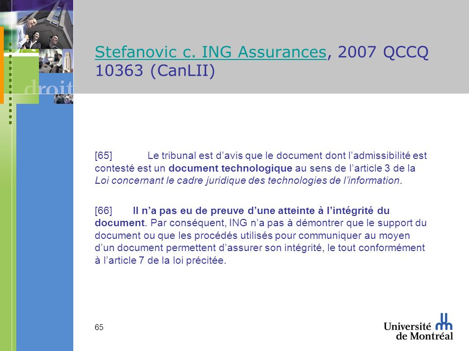 Stefanovic c. ING Assurances, 2007 QCCQ 10363 (CanLII)