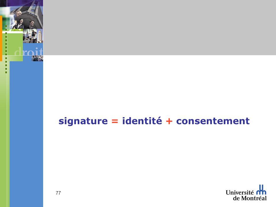signature = identité + consentement
