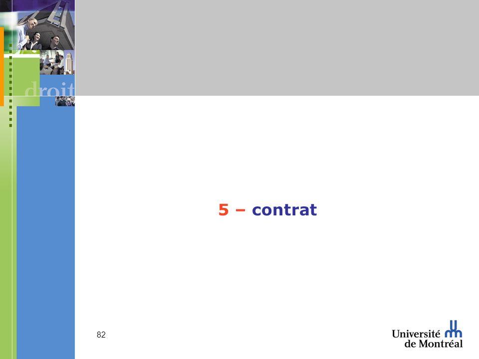 5 – contrat