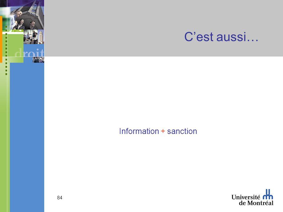 Information + sanction