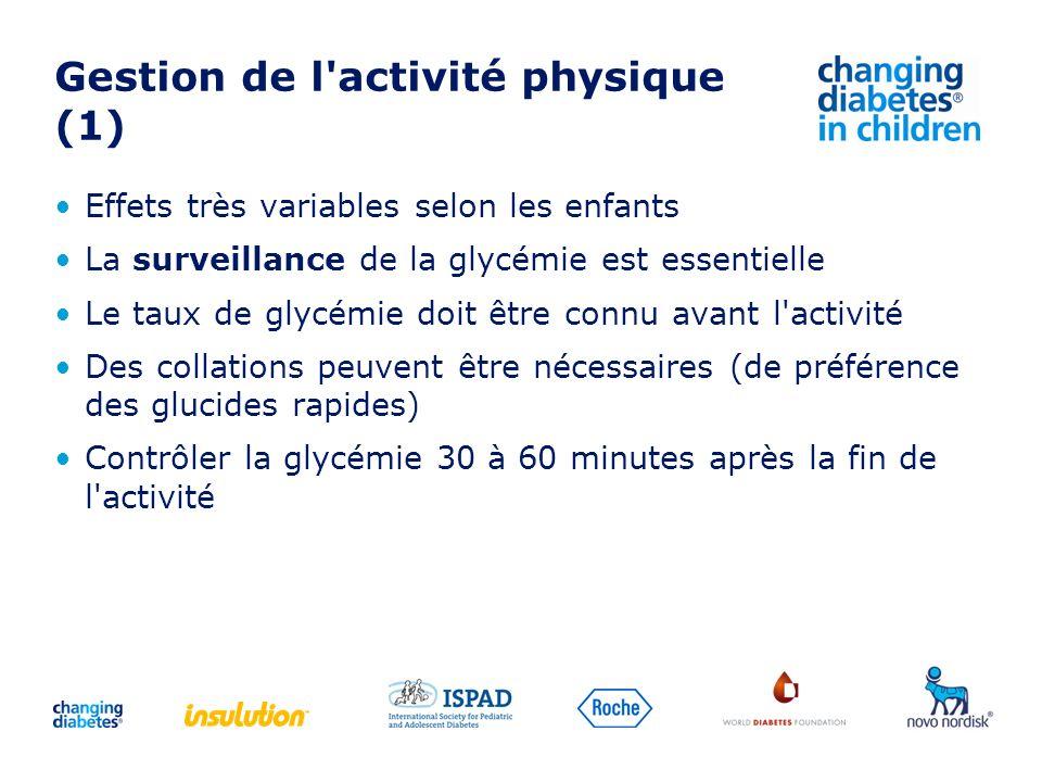 Gestion de l activité physique (1)