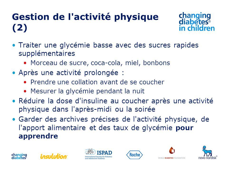 Gestion de l activité physique (2)