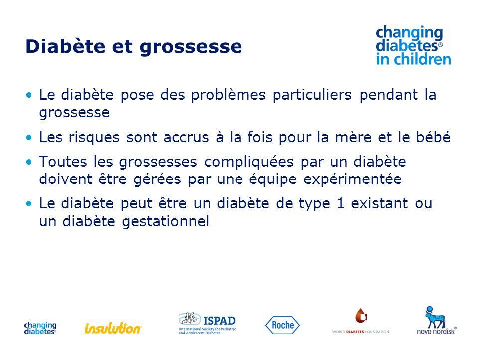 Diabète et grossesse Le diabète pose des problèmes particuliers pendant la grossesse. Les risques sont accrus à la fois pour la mère et le bébé.